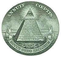 Глаз масонов на деньгах