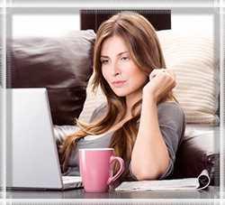 Женщина онлайн