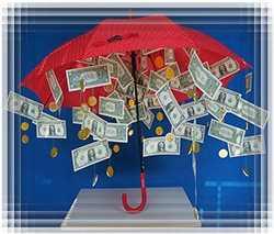 Зонт с деньгами