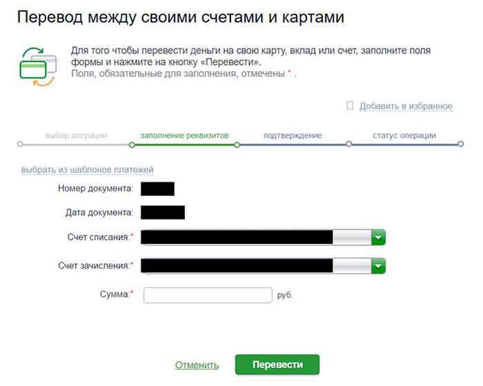 Система переводов Сбербанка
